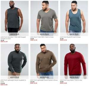 Plus Size Mens Clothing Starting from only £1.50 On the ASOS Outlet Store - Free delivery over £20.00