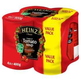 Heinz Classic Cream of Tomato Soup (4 x 400g) was £3.29 now £2.00 (50p a can) (Rollback Deal) @ Asda