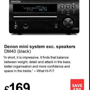 Denon DM40(black) mini system £169 @ Richer Sounds