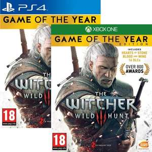 The Witcher 3: GOTY Edition PS4 / Xbox £19.99 In store & Online Free C&C @ Smyths