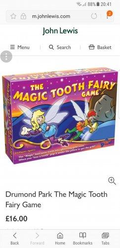 Drumond Park The Magic Tooth Fairy Game £16 @ John Lewis