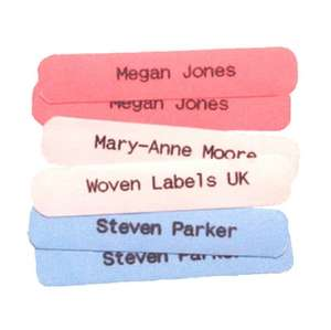50 Printed iron-on School Name Tapes Name Tags Labels - Quality School labels £3.50 @ Woven Labels UK/Ebay