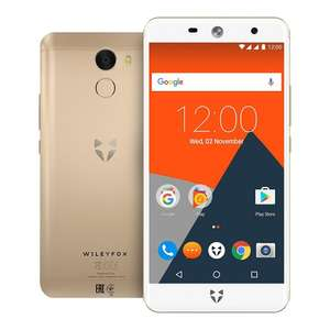 Wileyfox Swift 2 Plus 32 GB + 3 GB 4G SIM-Free Smartphone with Screen Replacement Card and Hard Case - Gold.£149.99  Amazon
