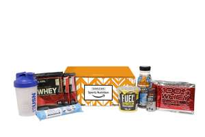 Buy an Amazon Sports Nutrition sample box for £10 and get a £10 discount on your next Diet & Nutrition purchase