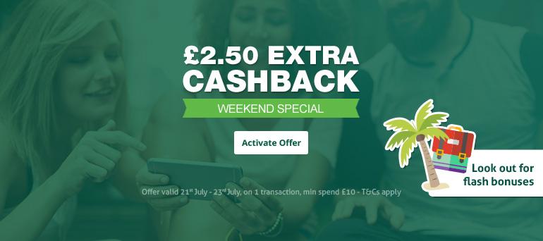 £2.50 extra cashback on £10+ VAT spend 21st July to 23rd July @ Topcashback (plus £5 flash bonuses)
