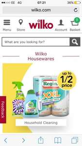 Upto 50% off houseware products at Wilkos