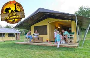1 night luxurious glamping with 2 days park entry plus splash zone & dinosaur park entry for upto 2 adults & 4 kids now £139 / £23.17 pp with code @ Little Bird