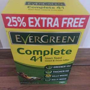 ASDA Evergreen complete 4in1 lawn feed 3.5kg - £1.79 instore