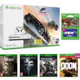 Xbox One S Forza Horizon 3 500GB Bundle x09Fallout 4 x09Dishonored 2 x09DOOM With UAC Pack x09Gears of War 4 x09NOW TV Movies 2 Month Sky Cinema Pass - £249.99 @ GAME