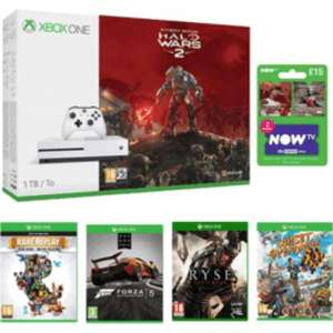 Xbox One S Halo Wars 2 1TB Bundle x09RARE Replay x09Forza Motorsport 5 Day One Edition x09Ryse: Son of Rome x09Sunset Overdrive x09NOW TV Movies 2 Month Sky Cinema Pass