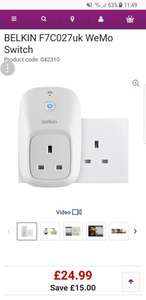 BELKIN F7C027uk WeMo Switch - £24.99 @ PC World