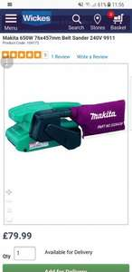 Makita 650W 76x457mm Belt Sander 240V 9911 - £79.99 @ Wickes