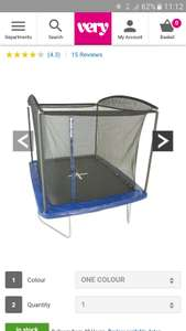 Sportspower 10ft x 8ft rectangular trampoline with enclosure  £159.99 ( 167.98 delivered) or £137 with 20% off code del'd! @ Very
