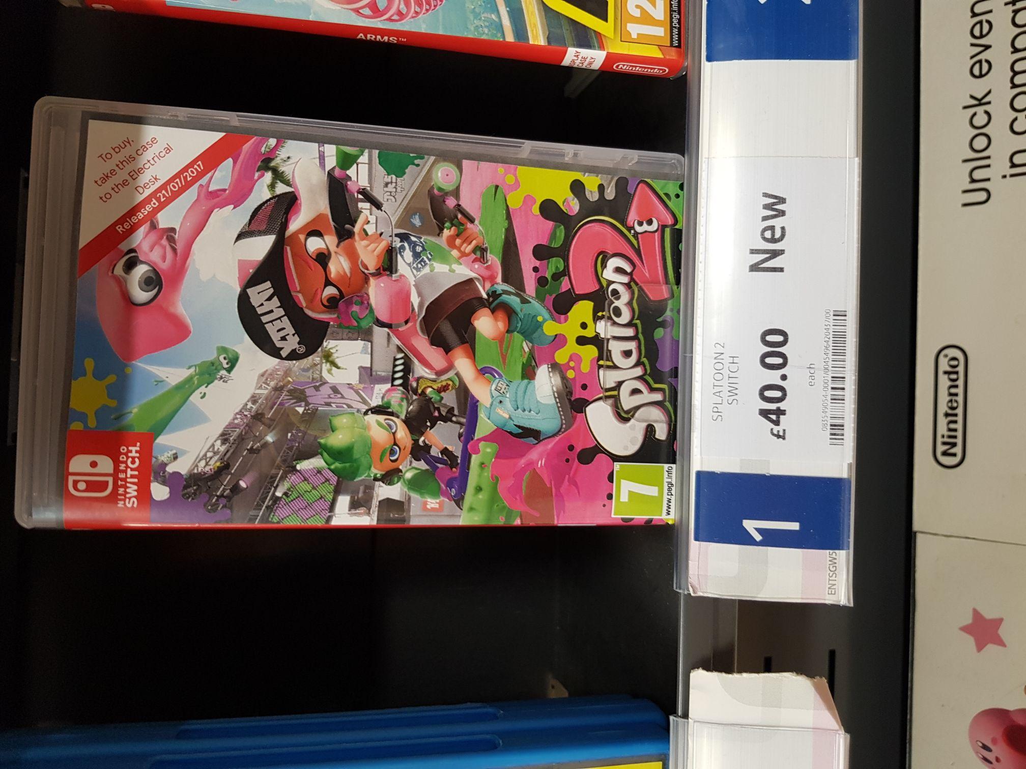 Splatoon 2 Nintendo Switch - £40 @ Tesco instore
