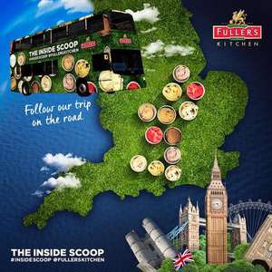 Free scoop of posh ice cream from the Fuller's Kitchen tour bus various locations London and SOUTH EAST ENGLAND ONLY