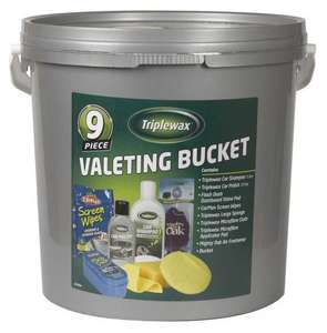 Triplewax 9 Piece Valeting Gift Bucket Set - £3.00 @ Asda In store