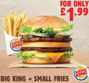 Burger King App Deals and Instore Offers for July - Big King and Fries £1.99 and More!