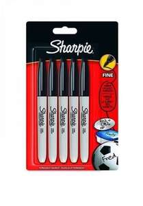 sharpie Fine Point Permanent Marker - Black, Pack of 5 £2.47 @ Amazon - Add on item