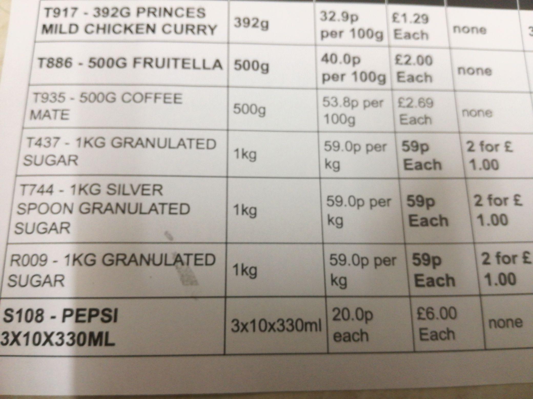 Sugar - 2 for £1 @ Farmfoods