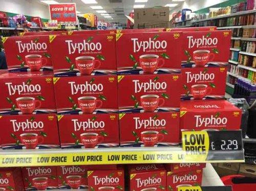 Typhoo 300 Fresh Foil Tea-bags £2.29 100 pack for 95p @ Savers