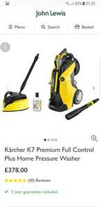 Kärcher K7 Premium Full Control Plus Home Pressure Washer - £378 @ John Lewis