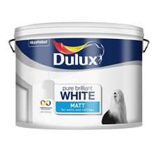 Dulux 10L Matt Emulsion Paint Pure Brilliant White - £15 instore @ Wilko (Sheffield)