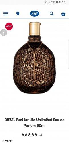 DIESEL Fuel for Life Unlimited Eau de Parfum 50ml - £29.99 @ Boots