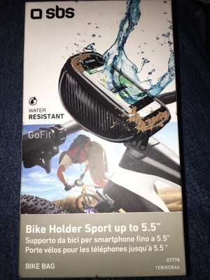 "Water resistant bike mobile holder (max screen 5.5"") was £20 now £2 @ Asda"
