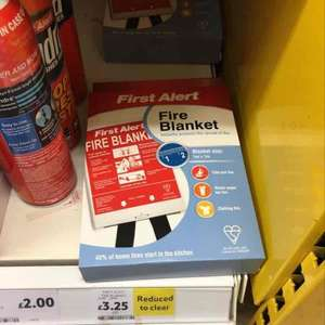 First Alert fire blanket @ Tesco £3.25 RTC was £13.