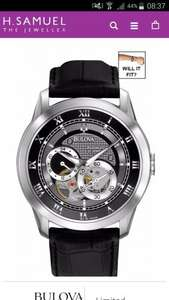 Bulova skeleton watch £325 reduced to poss £129 at H Samuel