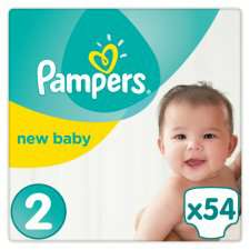 Pampers All varieties half price in Tesco £4.00 until 29th Aug. 27-54 nappies depending on size.