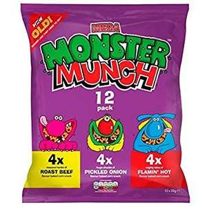 Walkers Monster munch , Wotsits , Squares 12 pack crisps £1 Asda instore