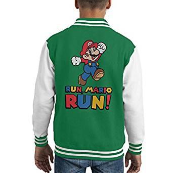 Run Mario Run Kid's Varsity Jacket £24.95 delivered @ amazon (Plus others)