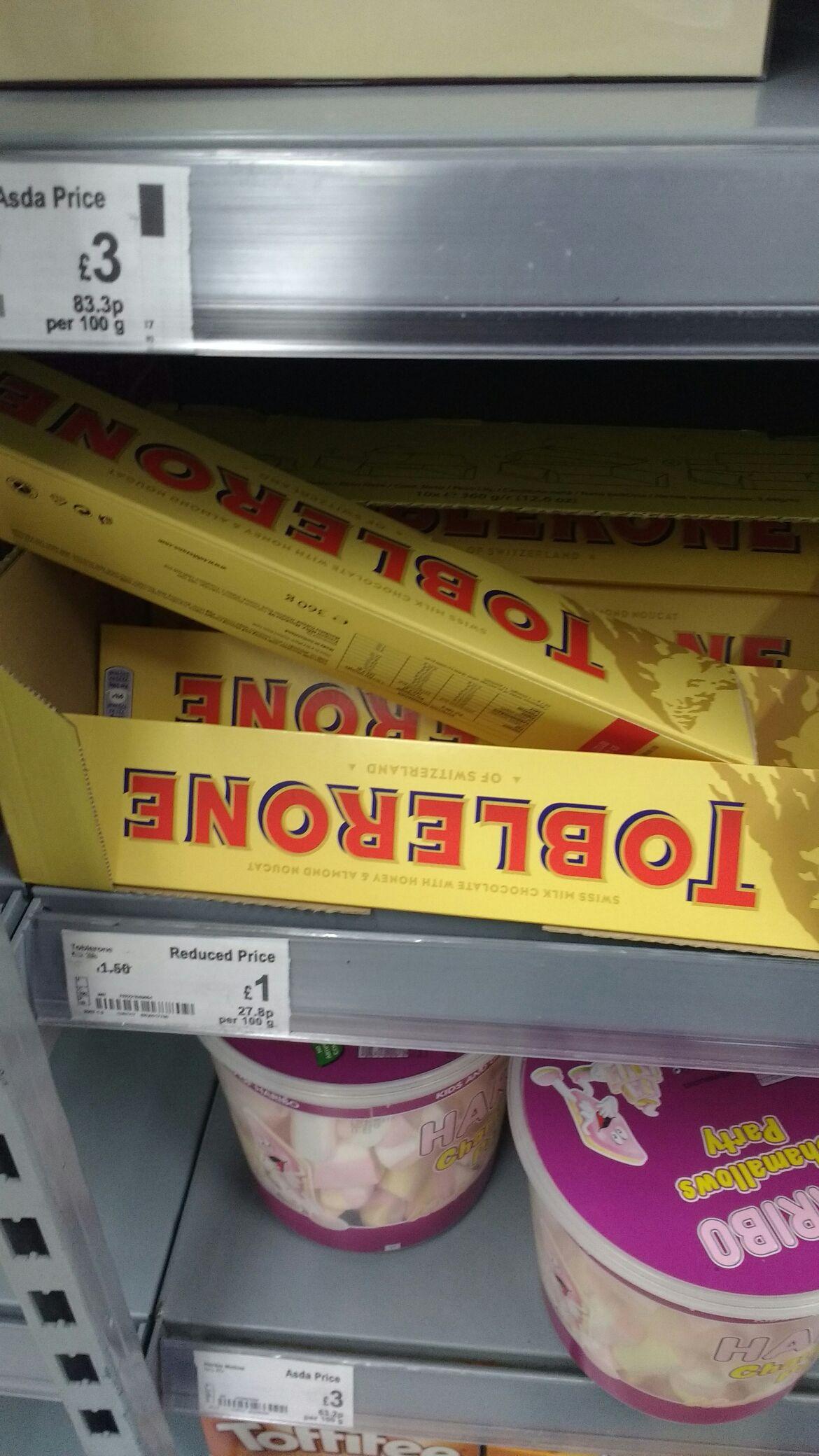 Toblerone 360g for £1 asda in store