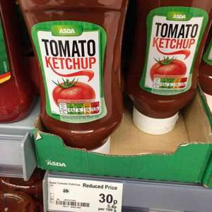 Tomato ketchup 560g 30p at Asda