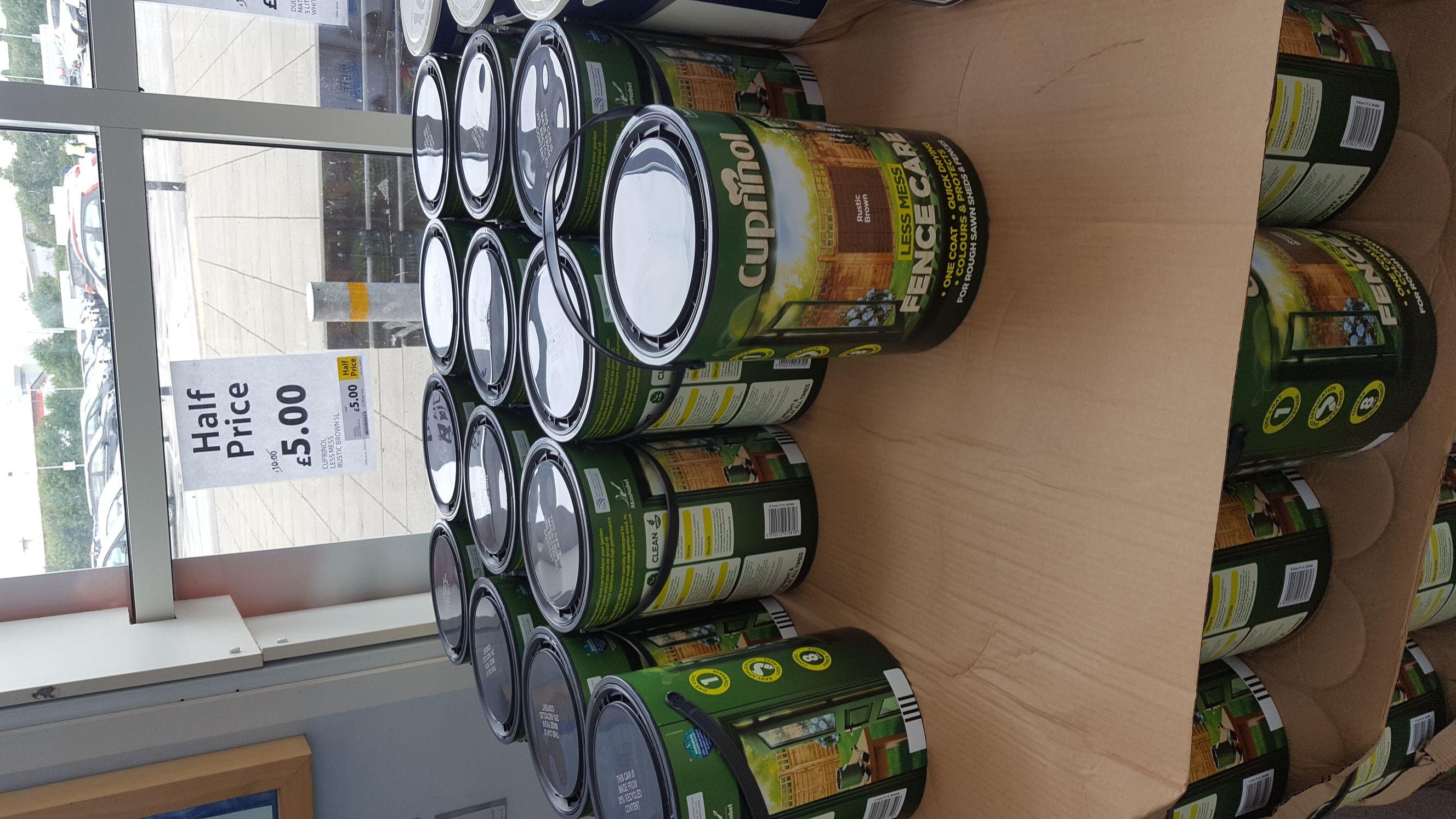 Cuprinol fence paint £5 St Helens Tesco