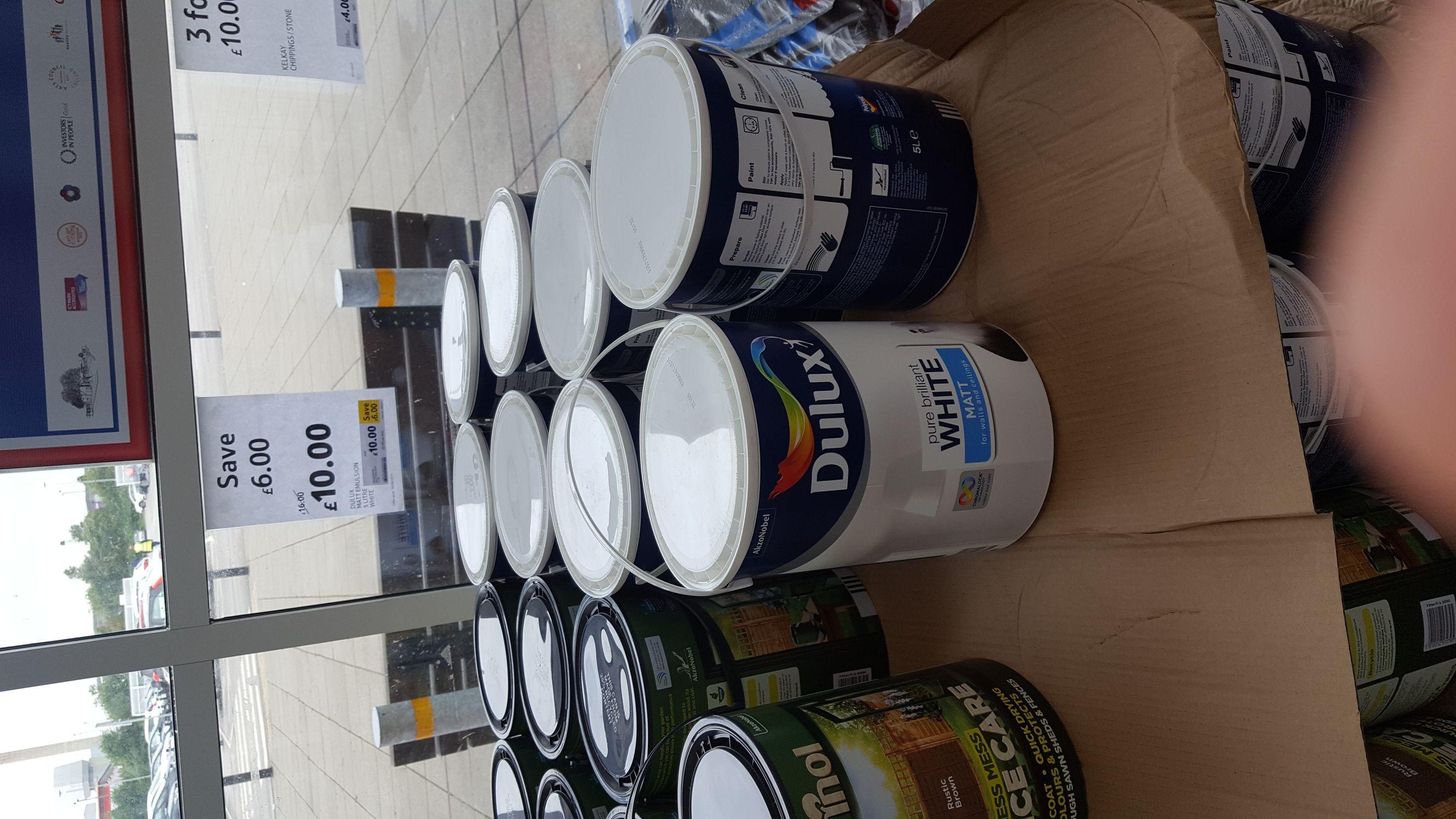 Dulux white matt paint 5l £10 @ Tesco - St helens