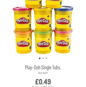 Play-Doh single tubs reduced further now 49p @ Argos