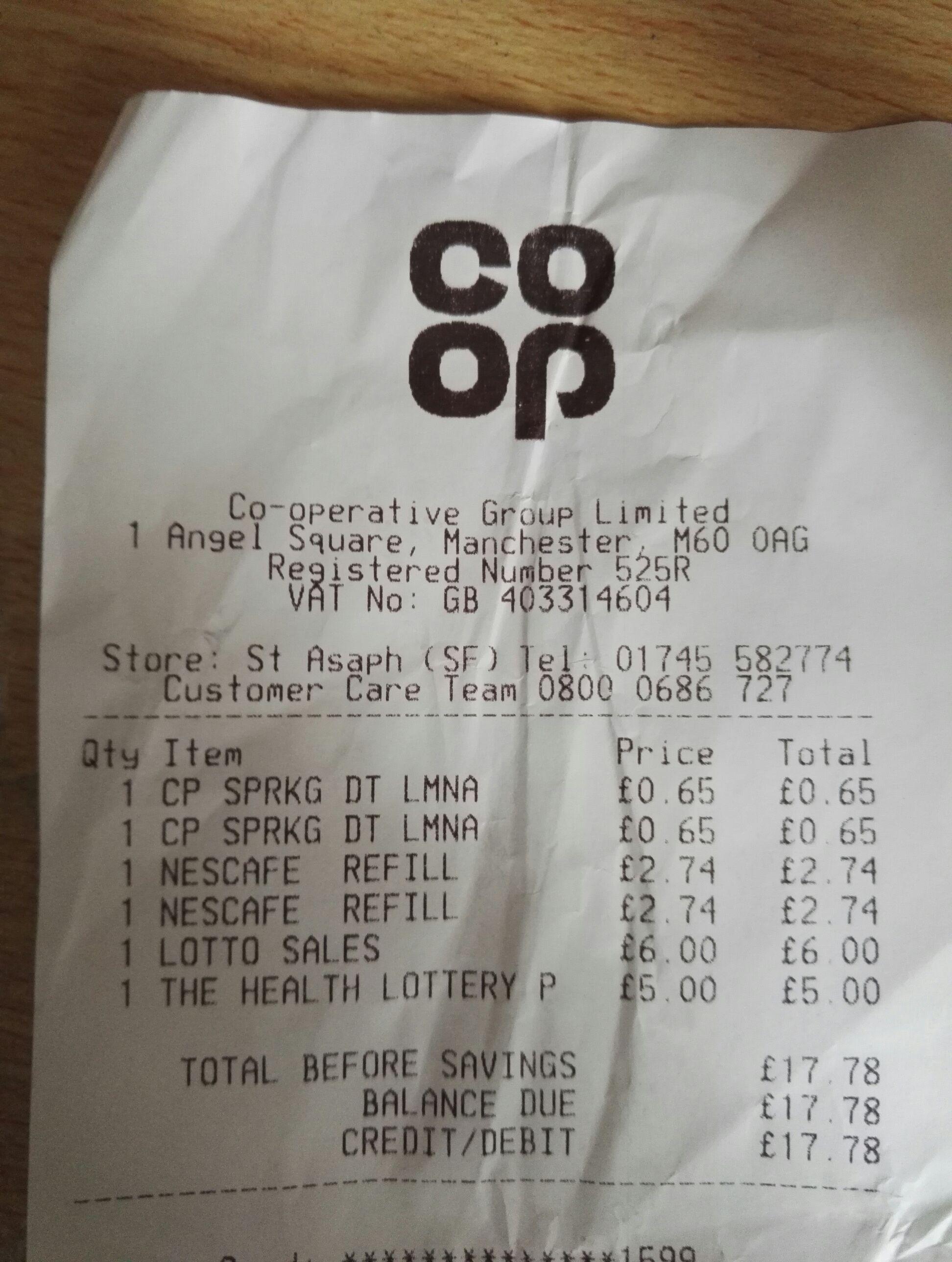 Nescafe gold blend 150g refill £2.74 instore @ CoOp