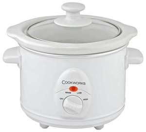Cookworks 1.5L Compact Slow Cooker further reduced to £5.99 @ Argos (Update 02/08: further reduced to £4.99)