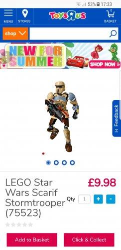 LEGO Star Wars Scarif Stormtrooper £9.98 @ Toysrus