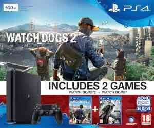 SONY PS4 Slim 500GB with Watch Dogs & Watch Dogs 2 £199.99 @ Zavvi