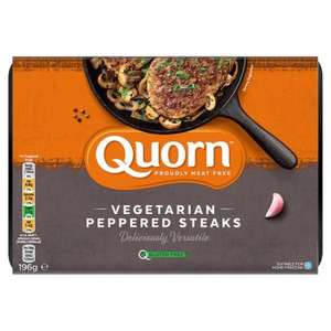 Tesco: Two Quorn peppered steaks £3 or 3 for £5 (others too).
