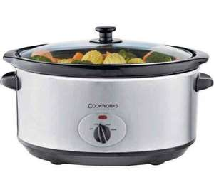 Cookworks 5.5L Slow Cooker - Stainless Steel @ Argos