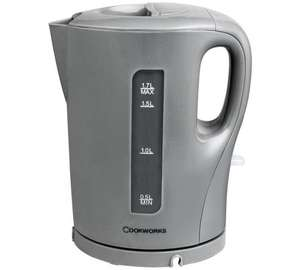 Cookworks Silver Kettle C&C at Argos £3.99