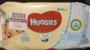Reduced Huggies Pure & Pampers Sensitive Baby Wipes - From 37p @ Boots