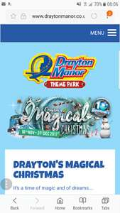 Drayton Manor/Thomas Land Magical Christmas Stay & play. Includes stay at Drayton Manor hotel for family of 4 from £131.20 with code