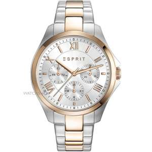 Esprit Women's Agathe Two Tone Rose Gold Quartz Watch with Analogue Display and Stainless Steel Strap - £69.02 Amazon - RRP £155.00