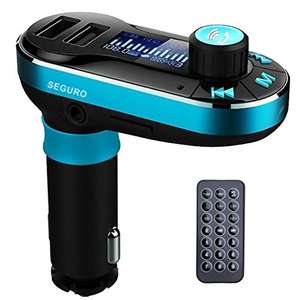 SEGURO®Car Kit Bluetooth MP3 Player FM Transmitter Hands-free Car Kit Charger Support SD Card/USB £9.49 prime / £13.48 non prime Sold by SEGURO and Fulfilled by Amazon