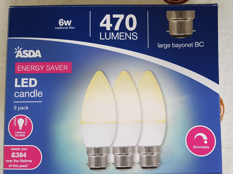 Lots of LED light bulbs on offer at Asda